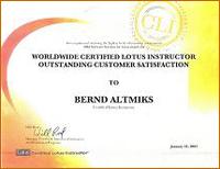 Worldwide Certified Lotus Instructor